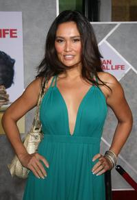 Tia Carrere at the premiere of Dan in Real Life.