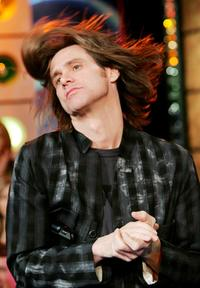 Jim Carrey at the MTV's Total Request Live at MTV Studios.