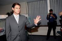 Jim Carrey at the press conference for the UN Security Council.