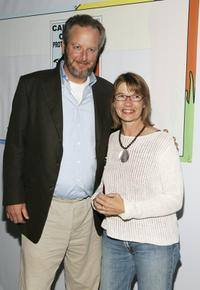 Daniel Stern and Laurie at the screening of