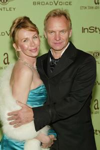Trudie Styler and Sting at the Elton John AIDS Foundation's 12th Annual Oscar party.