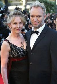 Sting and his wife at the screening of
