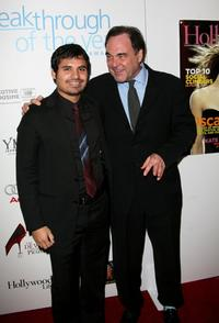 Oliver Stone and Michael Pena at the Hollywood Life magazine's 6th Annual Breakthrough Awards.
