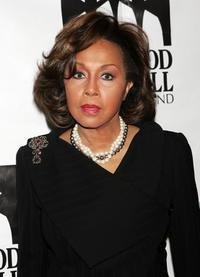 Diahann Carroll at the Thurgood Marshall Scholarship Funds annual dinner at the Sheraton New York Hotel.