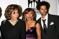 Diahann Carroll, Angela Bassett and Eric Benet at the Thurgood Marshall Scholarship Funds annual dinner at the Sheraton New York Hotel.
