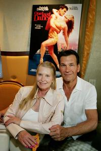 Lisa Niemi and Patrick Swayze at the Video Software Dealers Association's Annual home video convention.