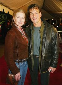 Lisa Niemi and Patrick Swayze at the screening of