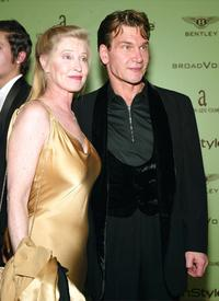 Lisa Niemi and Patrick Swayze at the Elton John AIDS Foundation's 12th Annual Oscar party.