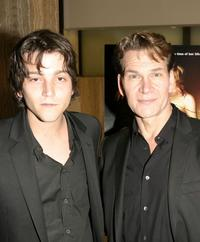 Diego Luna and Patrick Swayze at the Los Angeles premiere of