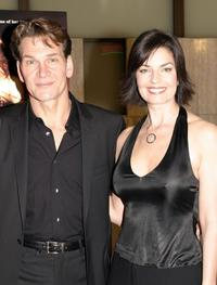 Patrick Swayze and Sela Ward at the Los Angeles premiere of