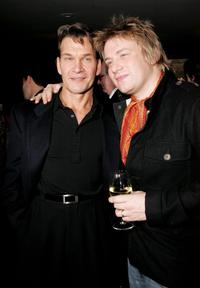 Patrick Swayze and Jamie Oliver at the UK premiere of