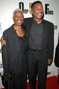 Robert Townsend and mother Lady at the launch party for