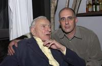 Writer Gore Vidal and Paul Jay at the home of Paul Alan Smith, attend An Evening With Gore Vidal.