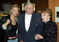 Gore Vidal author, Joan Leslie and Kristina Wayborn at the Academy of Motion Picture Arts and Sciences Centennial tribute to Oscar-winning actress Greta Garbo.
