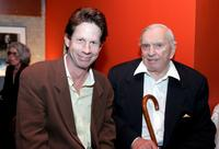 Writer Gore Vidal and Brent Hinkley at the cocktail reception of
