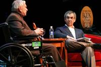 Author Gore Vidal and Writer Jon Wiener at the 12th Annual L.A. Times Festival of Books.