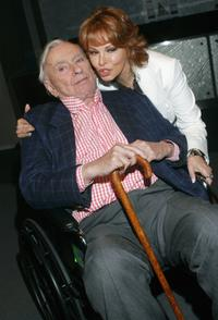 Author Gore Vidal and Raquel Welch at the closing night Gala of the