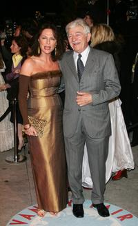Seymour Cassel and Jacqueline Bisset at the Vanity Fair Oscar Party.