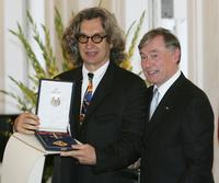 Wim Wenders and President Horst Koehler at the Bellevue Castle.