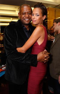 Keisha Whitaker and Forest Whitaker attend the Kissable Couture lip gloss launch in West Hollywood.
