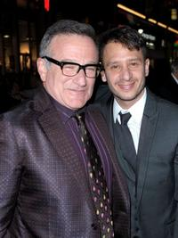 Robin Williams and producer Andrew Panay at the California premiere of