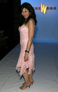 Maria Conchita Alonso at the Sue Wong Fall 2006 show during the Mercedes Benz Fashion Week.