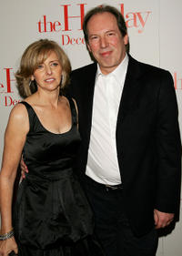 Director Nancy Meyers and Hans Zimmer at the premiere of