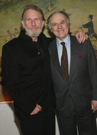Rene Auberjonois and Bob Dishy at the Broadway opening of