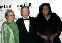 Dick Cavett, Dr. Mathilde Krim and Patti LaBelle at the amfAR New York Gala.