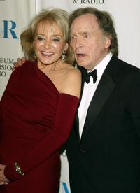 Dick Cavett and Barbara Walters at the Museum of Television and Radio gala honoring of Merv Griffin at the Waldorf Astoria .
