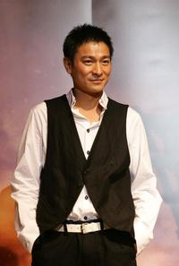 Andy Lau at the news conference to promote