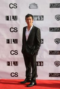 Chin Han at the Chicago premiere of