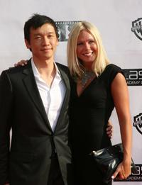 Chin Han and Sara Jahn at the Chicago premiere of