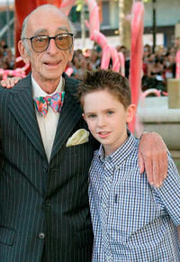 David Kelly and Freddie Highmore at the UK Premiere of