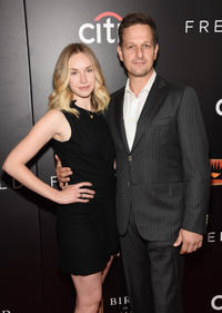 Sophie Flack and Josh Charles at the New York premiere of