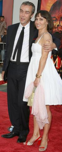 John Hannah and Guest at the premiere of