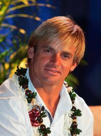 Laird Hamilton at the ceremony of Beacon Award.