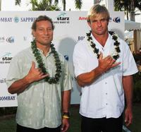 Dave Kalama and Laird Hamilton at the red carpet event of Maui Film Festival.