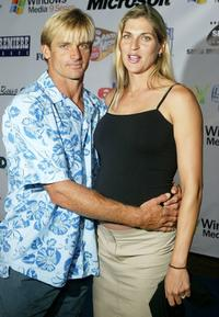 Laird Hamilton and Athlete Gabriela Reese at the premiere of