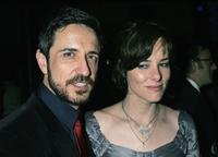 Craig Chester and Parker Posey at the premiere of