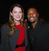 Jacinda Barrett and Morris Chestnut at the after party of the premiere of