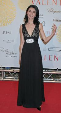 Maggie Cheung at the post haute couture show gala dinner and ball in the Parco dei Daini at the Villa Borghese.