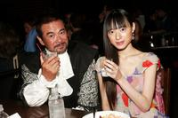 Sonny Chiba and Chiaki Kuriyama at the New York premiere of