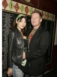 Silvia Colloca and Richard Roxburgh at the Company B's 2007 season launch.