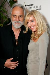 Tommy Chong and Shelby Chong at the celebration honoring Geena Davis as this year's Hollywood Hero.