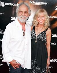 Tommy Chong and Shelby Chong at the Sunset Strip Music Festival's opening night ceremony.