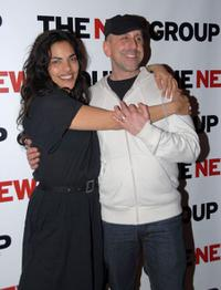 Sarita Choudhury and Scott Elliott at the opening night party of
