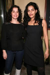 Sarita Choudhury and Annabella Sciorra at the New Group opening of