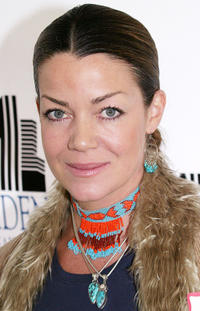 Claudia Christian at the Children Uniting Nations Day of the Child in California.