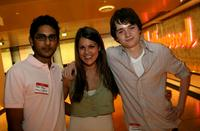 Adhir Kalyan, Lindsay Shaw and Dan Byrd at the CBS Paramount Television Young Stars Bowling party.